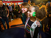 01 FEBRUARY 2020 - DES MOINES, IOWA: US Senator AMY KLOBUCHAR (D-MN) poses for a selfie with NADIA LOUIS, 6, from West Des Moines, during a Klobuchar campaign event in Des Moines. Sen. Klobuchar campaigned to support her candidacy for the US Presidency Saturday in Iowa. She is trying to capitalize on her recent uptick in national polls. Iowa holds the first selection event of the presidential election cycle. The Iowa Caucuses are Feb. 3, 2020.             PHOTO BY JACK KURTZ