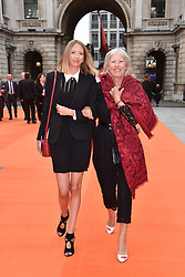 Left to right, Flora Goodwin and her mother Lady Hesketh at the Royal Academy of Arts Summer Exhibition Preview Party 2017, Burlington House, London England. 7 June 2017.