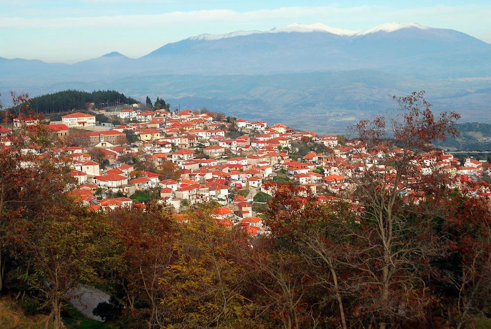 The village Verdikousia in Elassona county, Thessaly region, central Greece.