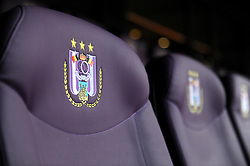 Detail of Anderlecht's crest on directors seating - Photo mandatory by-line: Dougie Allward/JMP - Mobile: 07966 386802 - 22/10/2014 - SPORT - Football - Anderlecht - Constant Vanden Stockstadion - R.S.C. Anderlecht v Arsenal - UEFA Champions League - Group D