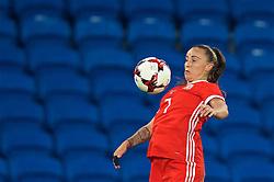 CARDIFF, WALES - Friday, November 24, 2017: Wales' Natasha Harding during the FIFA Women's World Cup 2019 Qualifying Round Group 1 match between Wales and Kazakhstan at the Cardiff City Stadium. (Pic by David Rawcliffe/Propaganda)