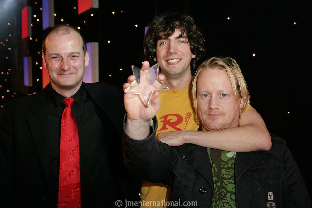 Garret Lee (aka Jackknife Lee) BDO Stoy Hayward , 'Producer of the Year' 2005 with Snow Patrol's Gary Lightbody and BDO's Paul Tworney