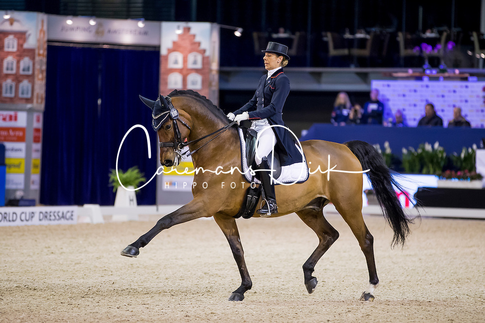 Brieussel Stephanie, FRA, Amorak<br /> FEI World Cup Dressage - Grand Prix<br /> Jumping Amsterdam 2017<br /> &copy; Hippo Foto - Leanjo de Koster<br /> 27/01/17
