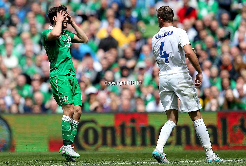 Three International Friendly, Aviva Stadium, Dublin 7/6/2015<br /> Republic of Ireland vs England<br /> Ireland's Harry Arter reacts to a missed chance <br /> Mandatory Credit &copy;INPHO/Ryan Byrne