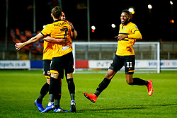 Jamille Matt of Newport County celebrates scoring his sides second goal of the game - Mandatory by-line: Ryan Hiscott/JMP - 11/12/2018 - FOOTBALL - Rodney Parade - Newport, Wales - Newport County v Wrexham - Emirates FA Cup second round proper