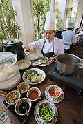 Cuai Dai Beach. Victoria Hoi An Beach Resort & Spa. Breakfast buffet at the restaurant: Pho (noodle soup).