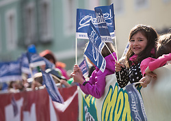 16.04.2013, Hauptplatz, Lienz, AUT, Giro del Trentino, Etappe 1, Lienz nach Lienz, im Bild Feature, Kindergarten Kinder mit Osttirol Fahnen // during stage 1, Lienz to Lienz of the Giro del Trentino at the Hauptplatz, Lienz, Austria on 2013/04/16. EXPA Pictures © 2013, PhotoCredit: EXPA/ Johann Groder