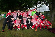 Stobswell AFC celebrate with the Dundee Saturday Morning Football League second division championship trophy at University Grounds, Riverside<br /> <br /> <br />  - &copy; David Young - www.davidyoungphoto.co.uk - email: davidyoungphoto@gmail.com