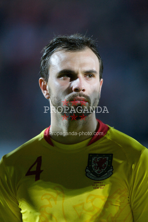 WREXHAM, WALES - Wednesday, February 6, 2008: Wales' Carl Fletcher before the international friendly match against Norway at the Racecourse Ground. (Photo by David Rawcliffe/Propaganda)