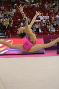 Koziol Natalia, Poland, during day one of the 33rd European Rhythmic Gymnastics at Papp Laszlo Budapest Sports Arena, Budapest, Hungary on 19 May 2017. Photo by Myriam Cawston.