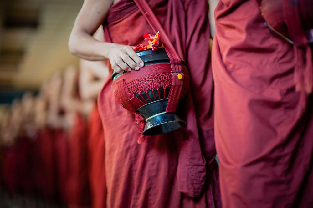 Buddhist Monk Bowl at Kha Khat Wain Kyaung Monastery (Bago, Myanmar)