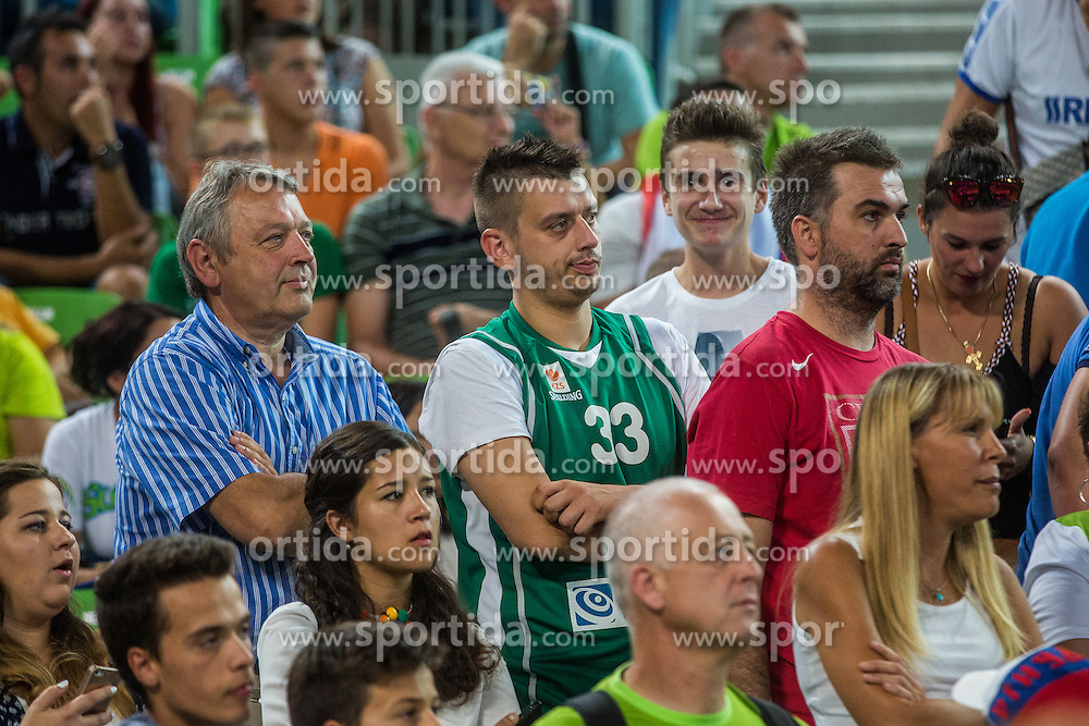Trkaj Slovenian musican during friendly basketball match between National teams of Slovenia and Serbia in arena Stozice, on August 23 in Ljubljana, Slovenia. Photo by Grega Valancic / Sportida August 27, 2015