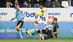 10.03.2019, TGW Arena, Pasching, AUT, 1. FBL, LASK vs FC Wacker Innsbruck, 21. Runde, im Bild v.l. Joao Victor Santos Sa (LASK Linz), Matthias Maak (FC Wacker Innsbruck) // during the tipico Bundesliga 21th round match between LASK and FC Wacker Innsbruck at the TGW Arena in Pasching, Austria on 2019/03/10. EXPA Pictures © 2019, PhotoCredit: EXPA/ Roland Hackl