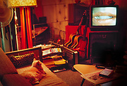 Lola watching Jan Svankmeyer's Alice on the tv from the couch in basement apartment in Queens, 1990.