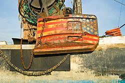 details of iron works attatched to a sea vessel