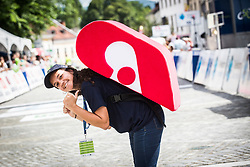 Adria Mobil hostess on finish line of 5th Stage of 26th Tour of Slovenia 2019 cycling race between Trebnje and Novo mesto (167,5 km), on June 23, 2019 in Slovenia. Photo by Peter Podobnik / Sportida