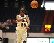 """Ole Miss' Courtney Marbra (25) vs. Central Michigan at C.M. """"Tad"""" Smith Coliseum in Oxford, Miss. on Wednesday, December 14, 2011."""