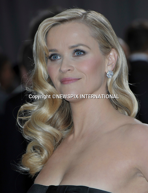 """REESE WITHERSPOON..Red Carpet arrival for the 85th Annual Academy Awards, Dolby Theatre, Hollywood, Los Angeles_23/02/2013.Mandatory Photo Credit: ©Dias/Newspix International..**ALL FEES PAYABLE TO: """"NEWSPIX INTERNATIONAL""""**..PHOTO CREDIT MANDATORY!!: NEWSPIX INTERNATIONAL(Failure to credit will incur a surcharge of 100% of reproduction fees)..IMMEDIATE CONFIRMATION OF USAGE REQUIRED:.Newspix International, 31 Chinnery Hill, Bishop's Stortford, ENGLAND CM23 3PS.Tel:+441279 324672  ; Fax: +441279656877.Mobile:  0777568 1153.e-mail: info@newspixinternational.co.uk"""