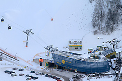 12.12.2012, Schladming, AUT, FIS Weltmeisterschaften Ski Alpin, Schladming 2013, Vorberichte, im Bild die Talstation der Seilbahn Golden Jet am 12.12.2012 // cable car Golden Jet on 2012/12/12, preview to the FIS Alpine World Ski Championships 2013 at Schladming, Austria on 2012/12/12. EXPA Pictures © 2012, PhotoCredit: EXPA/ Martin Huber