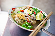 Bowl of my van than, a traditional vietnamese noodle soup, Hanoi, Vietnam, Southeast Asia