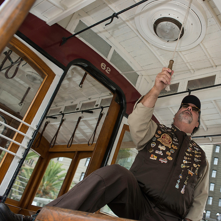 Ken Lunardi practices before the 50th Cable Car Bell Ringing Competition in San Franciosco's Union Square | July 11, 2013