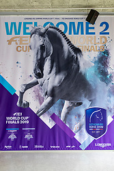 Gothenburg Horse Show Banner<br /> Göteborg - Gothenburg Horse Show 2019 <br /> Longines FEI Jumping World Cup™ Final and FEI Dressage World Cup™ Final<br /> 04. April 2019<br /> © www.sportfotos-lafrentz.de/Stefan Lafrentz