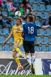 28.05.2012, Kufstein Arena, Kufstein, AUT, UEFA EURO 2012, Testspiel, Ukraine vs Estland, im Bild Anatoliy Tymoshchuk, (UKR, # 04), Joonas Tamm (EST, #18) // Anatoliy Tymoshchuk, (UKR, # 04), Joonas Tamm (EST, #18) during the Preparation Game for the UEFA Euro 2012 betweeen Ukraine and Estonia at the Kufstein Arena, Kufstein, Austria on 2012/05/28. EXPA Pictures © 2012, PhotoCredit: EXPA/ Juergen Feichter