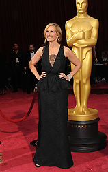 March 2, 2014 - Hollywood, California, U.S. - JULIA ROBERTS, nominated for an Oscar for best actress in a supporting role for her work in 'August: Osage County', arrives wearing a black lace Givenchy gown to the 86th Academy Awards held at the Dolby Theater. (Credit Image: © Lisa O'Connor/ZUMAPRESS.com)