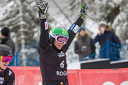 Marguc Rok (SLO), celebrates during Final Run at Parallel Giant Slalom at FIS Snowboard World Cup Rogla 2019, on January 19, 2019 at Course Jasa, Rogla, Slovenia. Photo byJurij Vodusek / Sportida