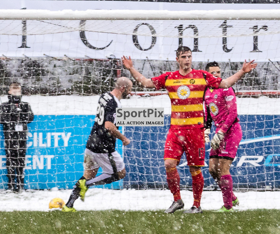 Dundee's Gary Harkins wheels away after scoring during the Partick Thistle FC V Dundee FC Scottish Premiership game, 16th January 2016; (c) BERNIE CLARK   SportPix.org.uk