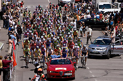 Riders at the start of 2nd stage of Tour de Slovenie 2009 from Kamnik to Ljubljana, 146 km, on June 19 2009, Slovenia. (Photo by Vid Ponikvar / Sportida)