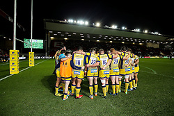 Worcester Warriors huddle after Bristol Rugby win 28-21 - Rogan Thomson/JMP - 26/12/2016 - RUGBY UNION - Ashton Gate Stadium - Bristol, England - Bristol Rugby v Worcester Warriors - Aviva Premiership Boxing Day Clash.
