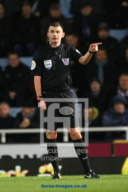 Picture by Paul Chesterton/Focus Images Ltd +44 7904 640267<br /> 11/02/2014<br /> Referee Michael Oliver during the Barclays Premier League match at the Boleyn Ground, London