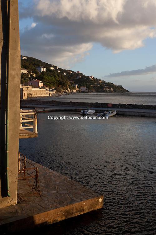 Corsica. France. Erbalunga fishermen port near Bastia, Cap Corse Corsica North, France /  lErbalunga , port de peche pres de Bastia, Cap Corse , Corse du Nord