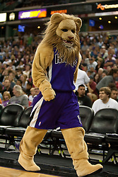 October 23, 2009; Sacramento, CA, USA;  The Sacramento Kings mascot during the third quarter against the Utah Jazz at the ARCO Arena.  The Jazz won 95-85.
