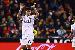 January 26, 2019 - Valencia, Spain - Carlos Soler of Valencia CF  during  spanish La Liga match between Valencia CF vs Villarreal CF at Mestalla Stadium on Jaunary  26, 2019. (Credit Image: © Jose Miguel Fernandez/NurPhoto via ZUMA Press)
