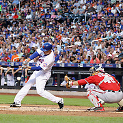Kelly Johnson, New York Mets, batting during the New York Mets Vs Washington Nationals. MLB regular season baseball game at Citi Field, Queens, New York. USA. 1st August 2015. (Tim Clayton for New York Daily News)