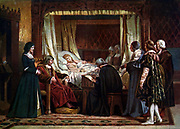 Queen Isabella of Spain died on November 26, 1504 in Medina del Campo.  In her will she asked that her successors protect and treat the people of the Americas the same as they would the Spanish people.