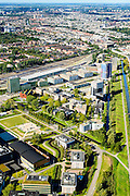 Nederland, Noord-Holland, Amsterdam, 27-09-2015; Watergraafsmeer met overzicht Amsterdam Science Park. Huisvest onder andere Amsterdam University College, de Beta wetenschappen, Life Science en IT.<br /> Science Park in East of Amsterdam, University of Amsterdam Faculty of Science, the Amsterdam University College, IT, Life Sciences, advanced technology, and sustainability,<br /> luchtfoto (toeslag op standard tarieven);<br /> aerial photo (additional fee required);<br /> copyright foto/photo Siebe Swart