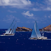 Meteor and Avalon racing in the St. Barth's Bucket Regatta.