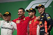 June 7-11, 2018: Canadian Grand Prix. Sebastian Vettel (GER), Scuderia Ferrari, SF71H, Valtteri Bottas (FIN), Mercedes AMG Petronas Motorsport, F1 W09 EQ Power+, Max Verstappen (DEU), Aston Martin Red Bull Racing, RB14