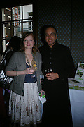 Miranda Richardson and Dr. Nish Joshi. Book launch for Dr. Joshi's Holistic Dett. The Arts Club, 40 Dover st. London. 26 May 2005. ONE TIME USE ONLY - DO NOT ARCHIVE  © Copyright Photograph by Dafydd Jones 66 Stockwell Park Rd. London SW9 0DA Tel 020 7733 0108 www.dafjones.com