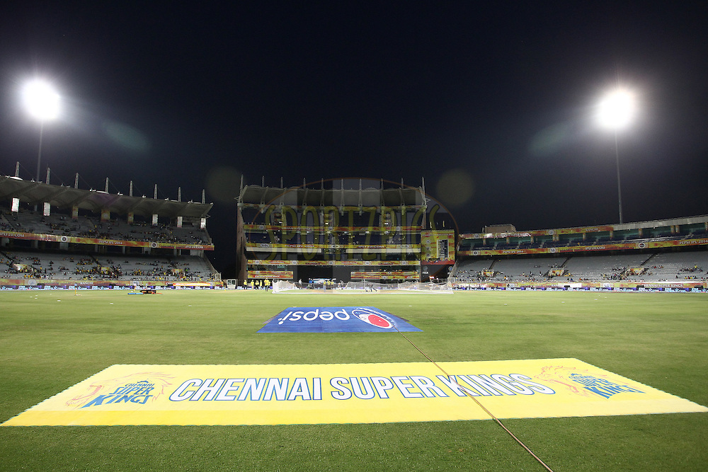 General View during match 21 of the Pepsi Indian Premier League Season 2014 between the Chennai Superkings and the Kolkata Knight Riders  held at the JSCA International Cricket Stadium, Ranch, India on the 2nd May  2014<br /> <br /> Photo by Shaun Roy / IPL / SPORTZPICS<br /> <br /> <br /> <br /> Image use subject to terms and conditions which can be found here:  http://sportzpics.photoshelter.com/gallery/Pepsi-IPL-Image-terms-and-conditions/G00004VW1IVJ.gB0/C0000TScjhBM6ikg