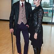 NLD/Almere/20140406 - Setbezoek filmopname speelfilm Heksen Bestaan Niet, Leontien Borsato - Ruiters en Vincent Banic