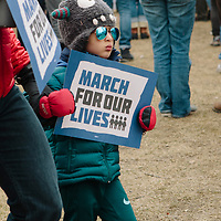Madison, Wisconsin, USA. 24th March, 2018. Attendees of the Madison, Wisconsin March for Our Lives event march at the states capitol building.