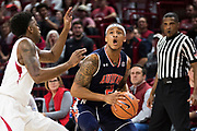 FAYETTEVILLE, AR - FEBRUARY 27:  Bryce Brown #2 of the Auburn Tigers looks to take a shot against Daryl Macon #4 of the Arkansas Razorbacks at Bud Walton Arena on February 27, 2018 in Fayetteville, Arkansas.  The Razorbacks defeated the Tigers 91-82.  (Photo by Wesley Hitt/Getty Images) *** Local Caption *** Bryce Brown; Daryl Macon