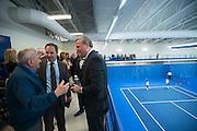 Jeff Stevens, Jim Powers and Don Herak during the Stevens Center dedication.