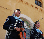 Pueblo High School's Mariachi Aztlan in concert at Tucson's first-ever Fiesta en el Barrio Viejo in 2010. The all-day concert is now known as Fiesta en el Barrio. Event photography by Martha Retallick.