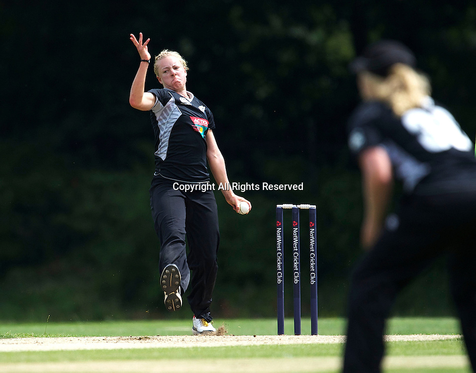 5.7.11 Southgate, England. Sian Ruck of New Zealand White Ferns in action  during the India Women vs White Ferns NatWest Womens Quadrangular Series Women's One-Day Match at The Walker Cricket Ground, Southgate.