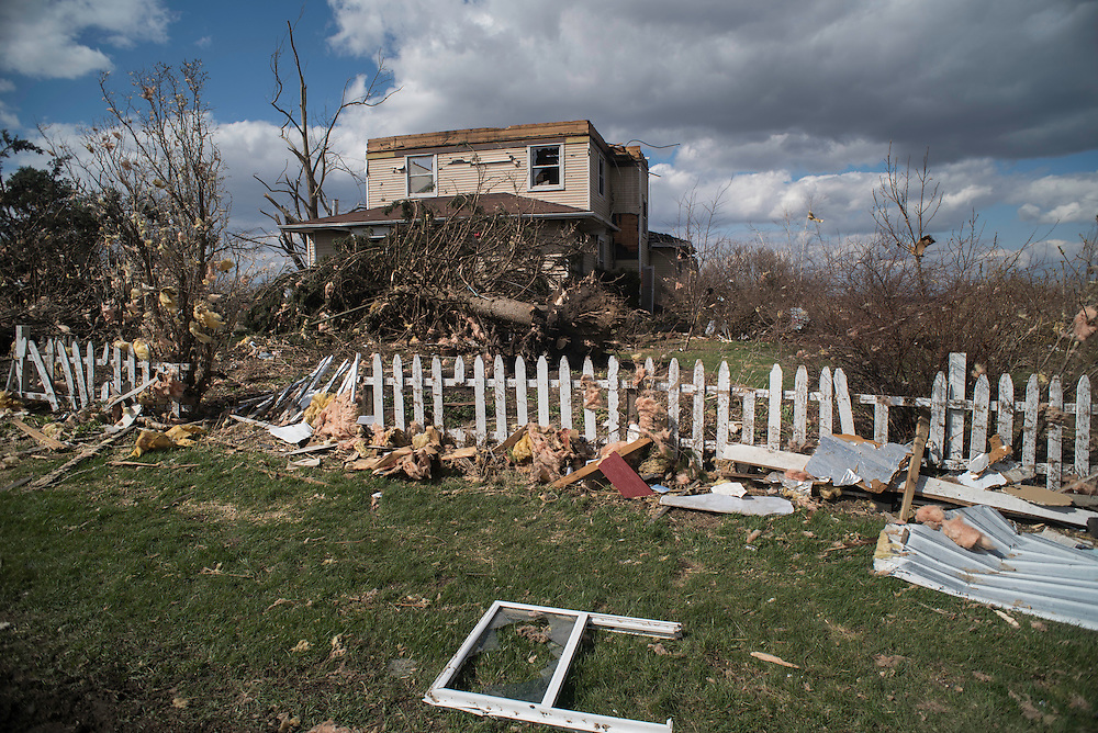 Photo by Michael R. Schmidt-Fairdale, IL-April 10, 2015<br /> The aftermath and destruction caused by an EF 4 tornado that struck Fairdale Illinois on Thursday April 9 2015.